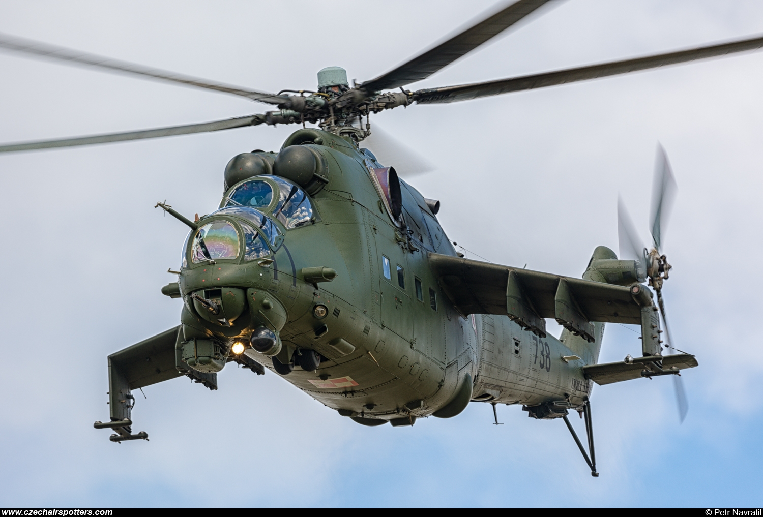 Poland - Air Force – Mil Mi-24V Hind 738
