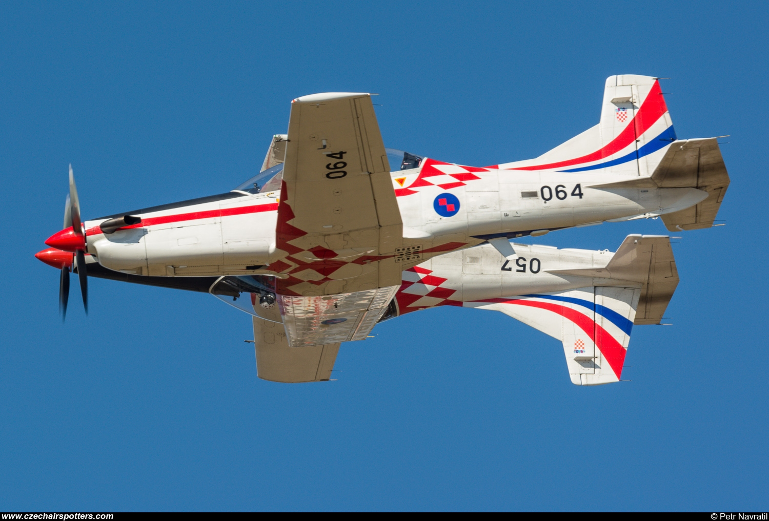 Croatia - Air Force – Pilatus Aircraft PC-9M 064 + 057