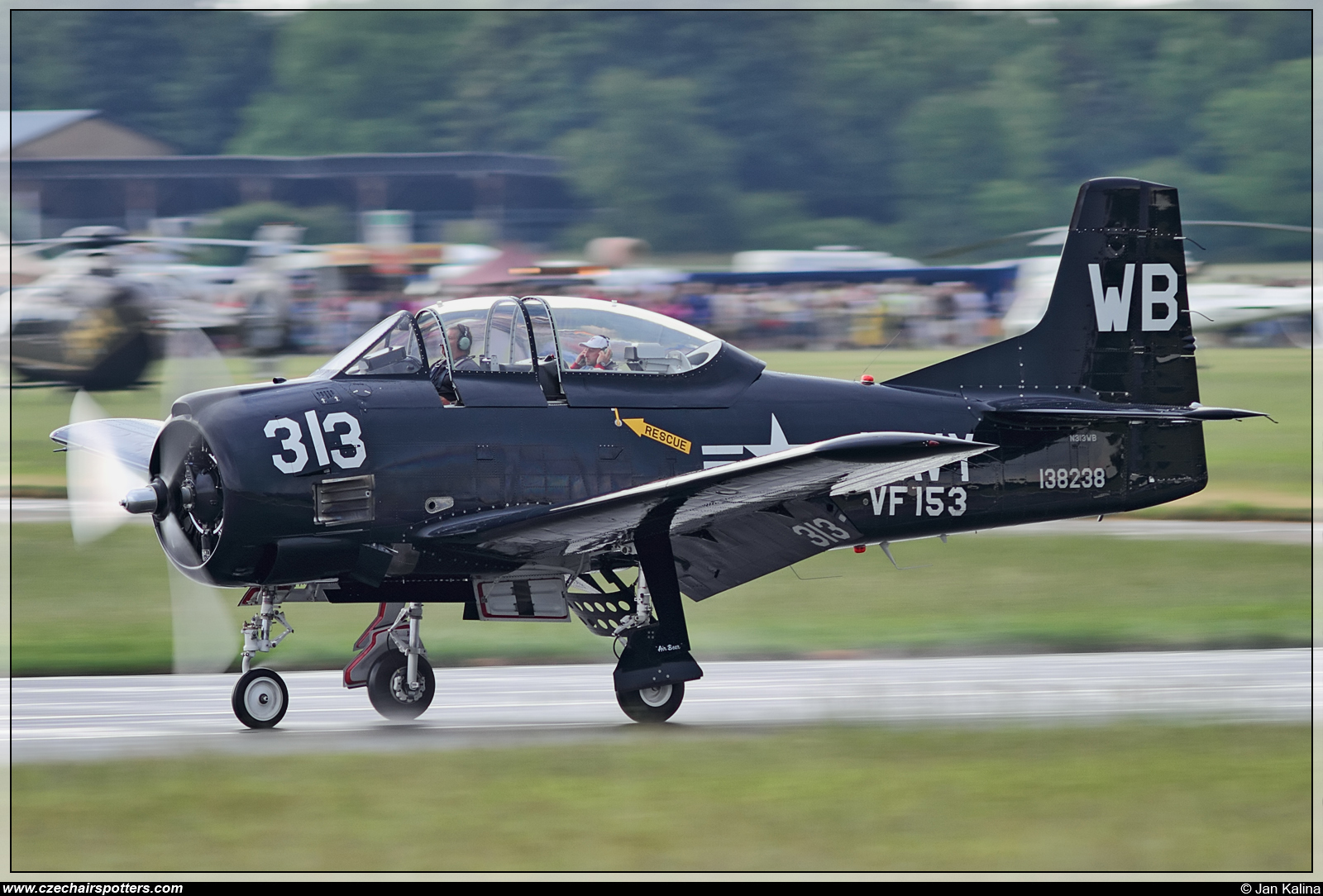 private – North American AT-28D Trojan N313WB / WB-313