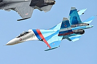 Russia - Air Force – Sukhoi Su-27 UB Flanker C 17 RED/RF-92202
