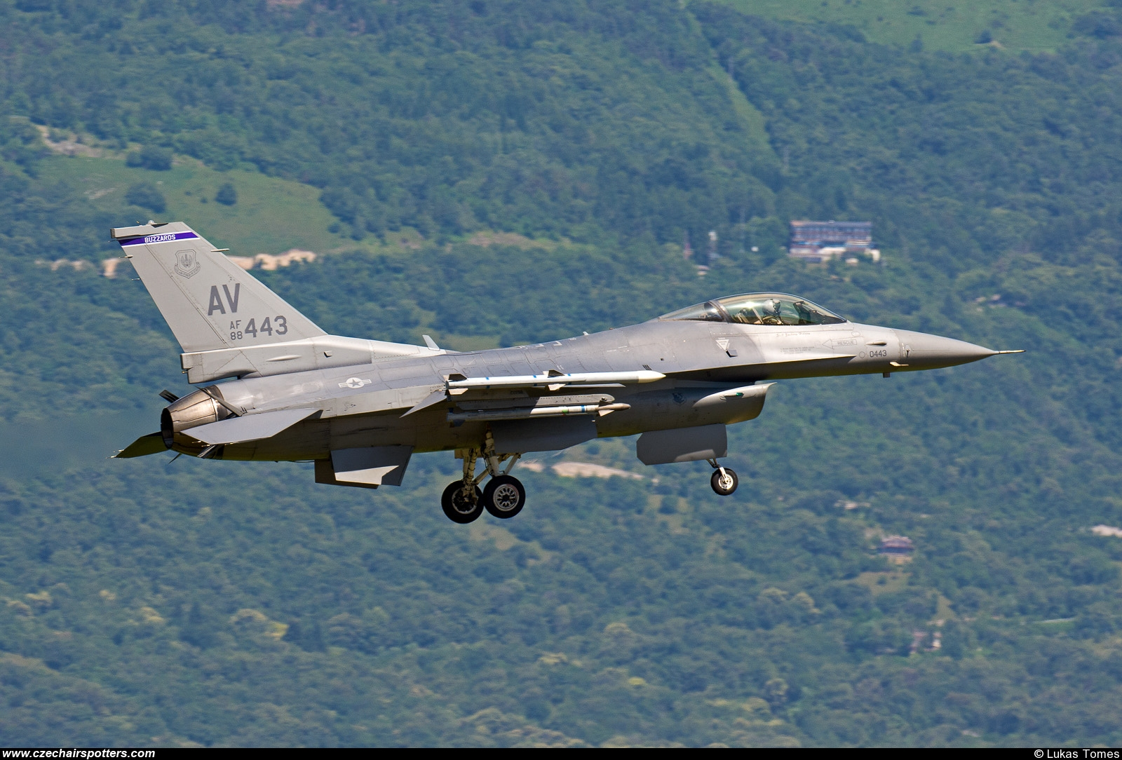 USA - Air Force – Lockheed F-16CJ Fighting Falcon 88-0443