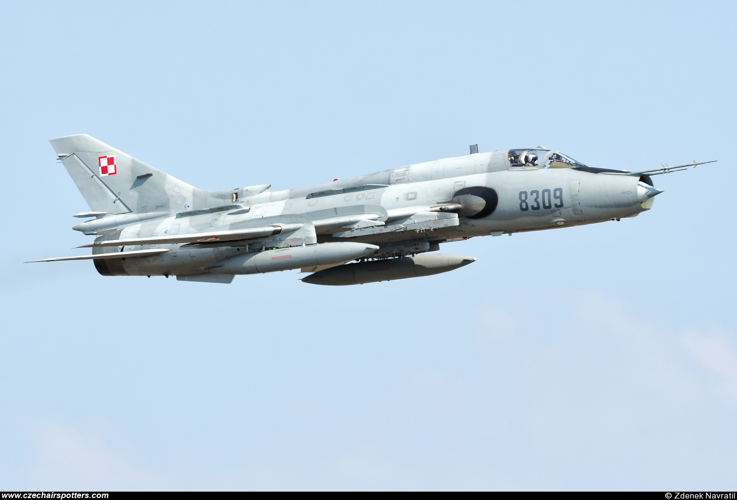 Poland - Air Force – Sukhoi Su-22 M-4 Fitter 8309
