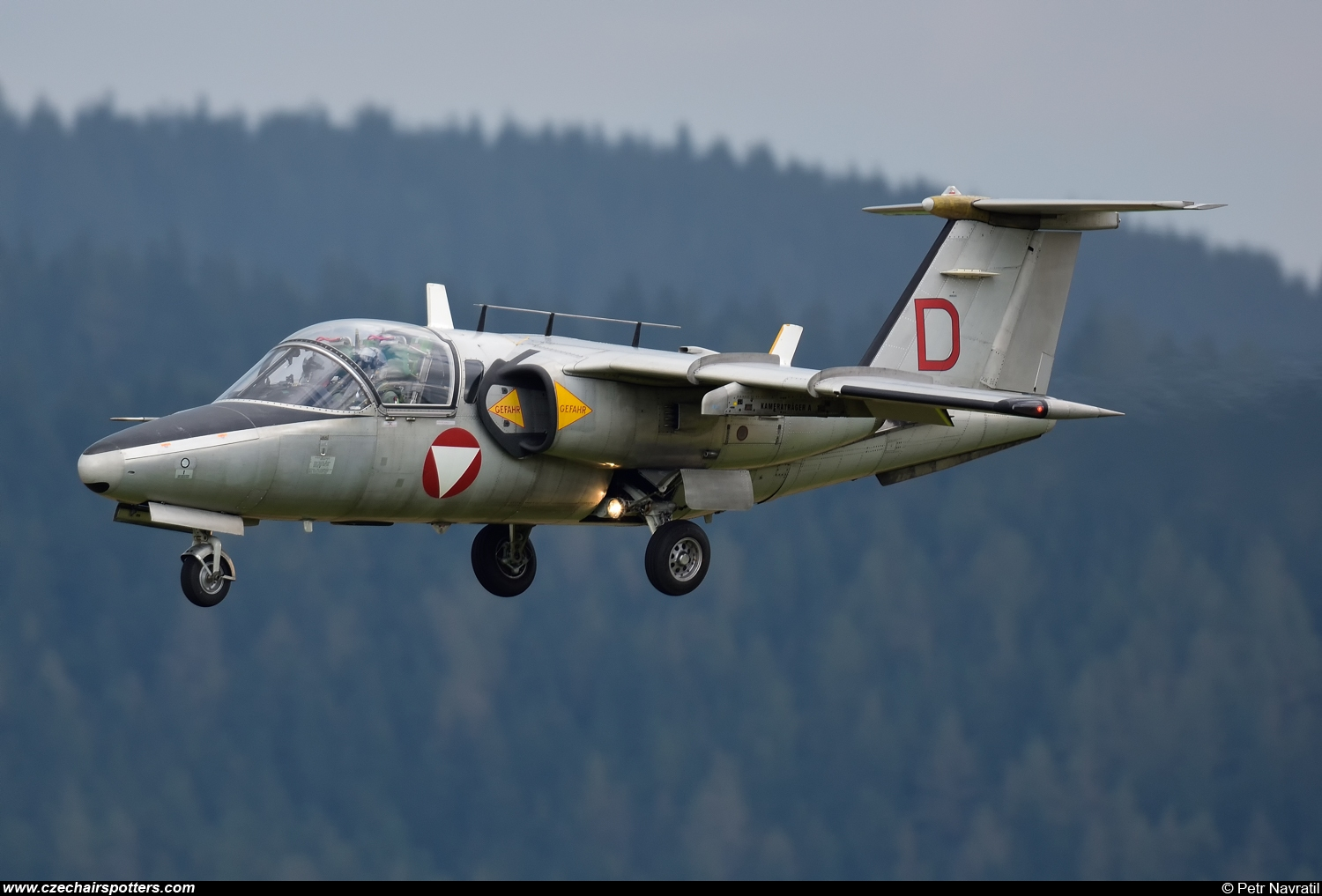 Austria - Air Force – Saab Saab 105OE 1124/D