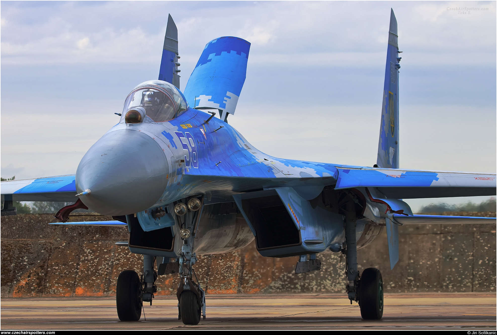 Ukraine - Air Force – Sukhoi Su-27 Flanker B 58 BLUE