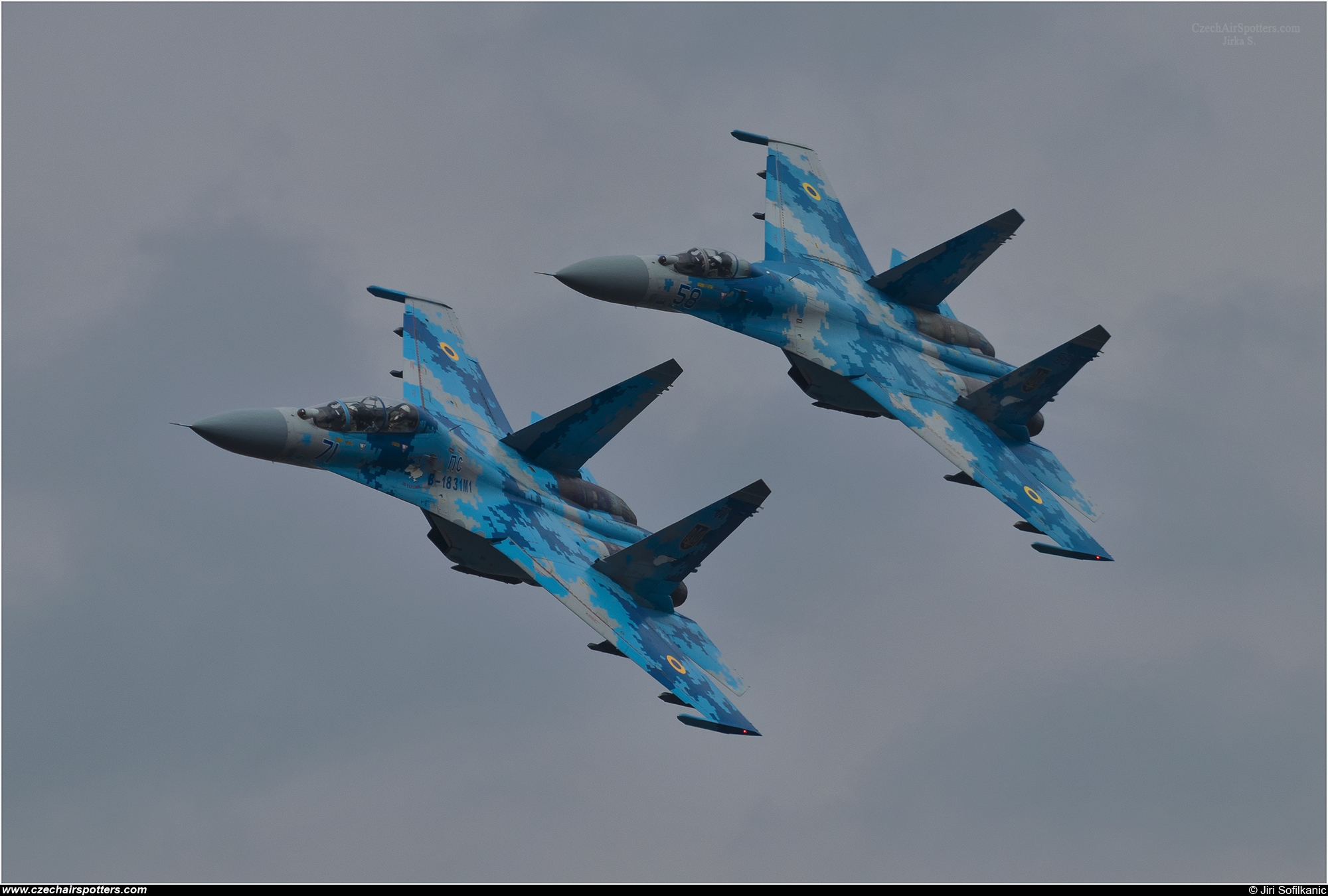 Ukraine - Air Force – Sukhoi Su-27 UB Flanker C 71 BLUE