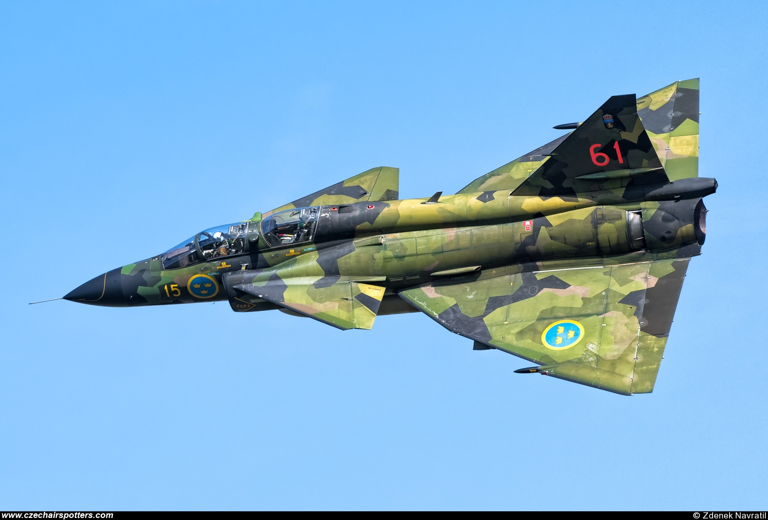 Sweden - Air Force – Saab SK37E Viggen SE-DXO/15/61